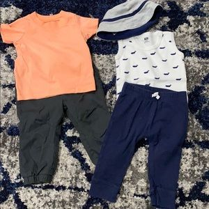 2 boys outfits 6-9 months